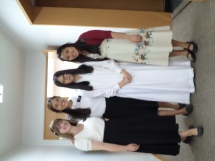 Sister Yoon's baptism.. hehe she was so nervous